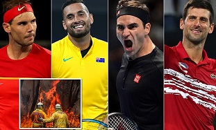 Federer, Nadal, Serena & Kyrgios will play charity tennis match for bushfire in Melbourne Park on 15 Jan.
