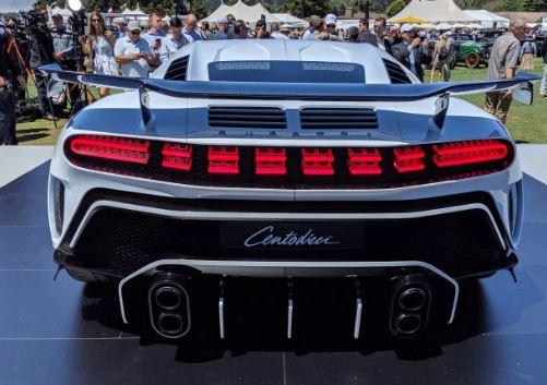 Bugatti Centodieci 9 Million Dollar Hyper Car Rear View