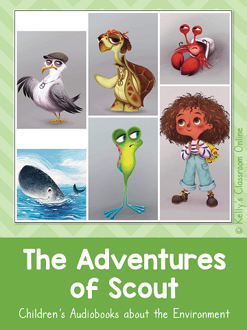 Learn about The Adventures of Scout, an environmental audiobook series for children written by the3engineers. Endangered animals, plastics, and bees.