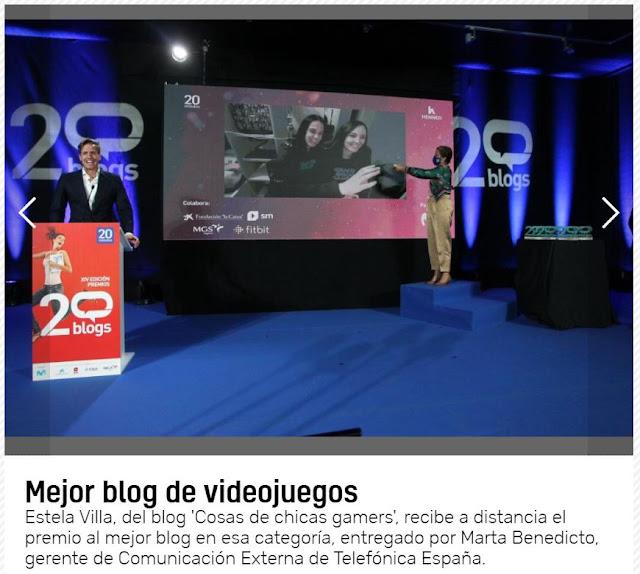 Chicas Gamers - Premio al mejor blog de videojuegos Premios20Blogs