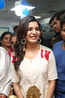 Samantha Ruth Prabhu Smiling Beauty in White Dress Launches VCare Clinic 15 June 2017 036.JPG