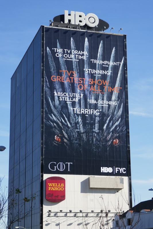 Game of Thrones winter 2019 FYC billboard
