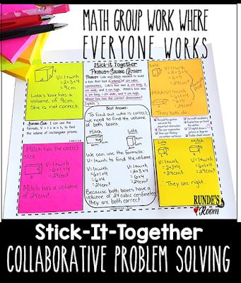 Math group work where everyone works