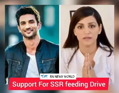 Sushant-singh-rajput-and-Shweta-Singh-kirti,ssr-feeding-drive