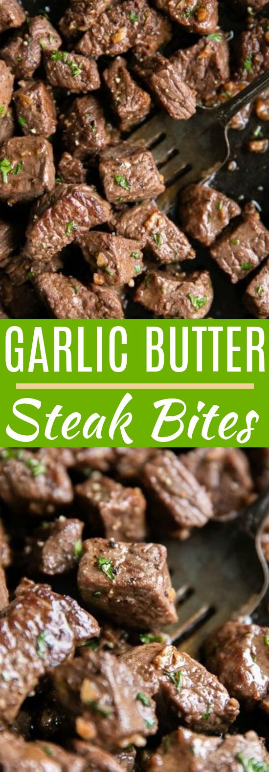 Garlic Butter Steak Bites #dinner #easy