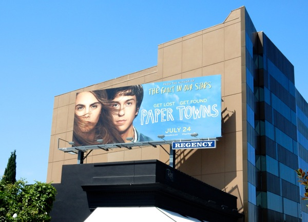 Paper Towns movie billboard