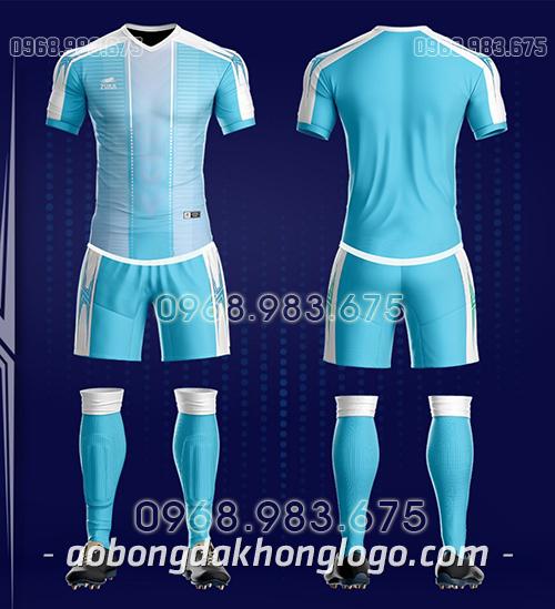 Áo bóng đá ko logo Zuka TV màu xanh ngọc