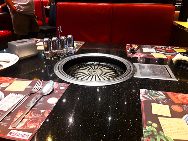 tables with grills