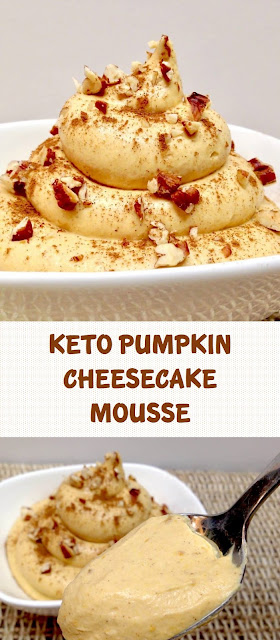 KETO PUMPKIN CHEESECAKE MOUSSE