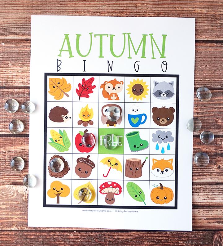 Free Printable Autumn Bingo