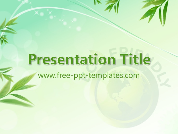Eco friendly ppt template toneelgroepblik Image collections