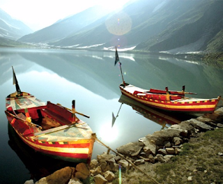 Boating at Saif ul Malook Lake