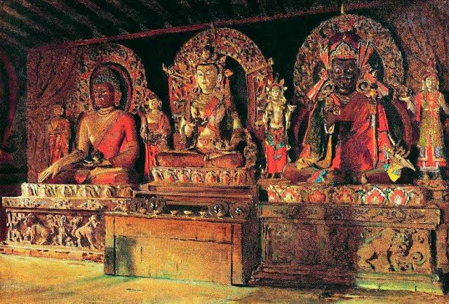Василий Васильевич Верещагин - Три главных божества в буддийском монастыре Чингачелинг в Сиккиме. 1875