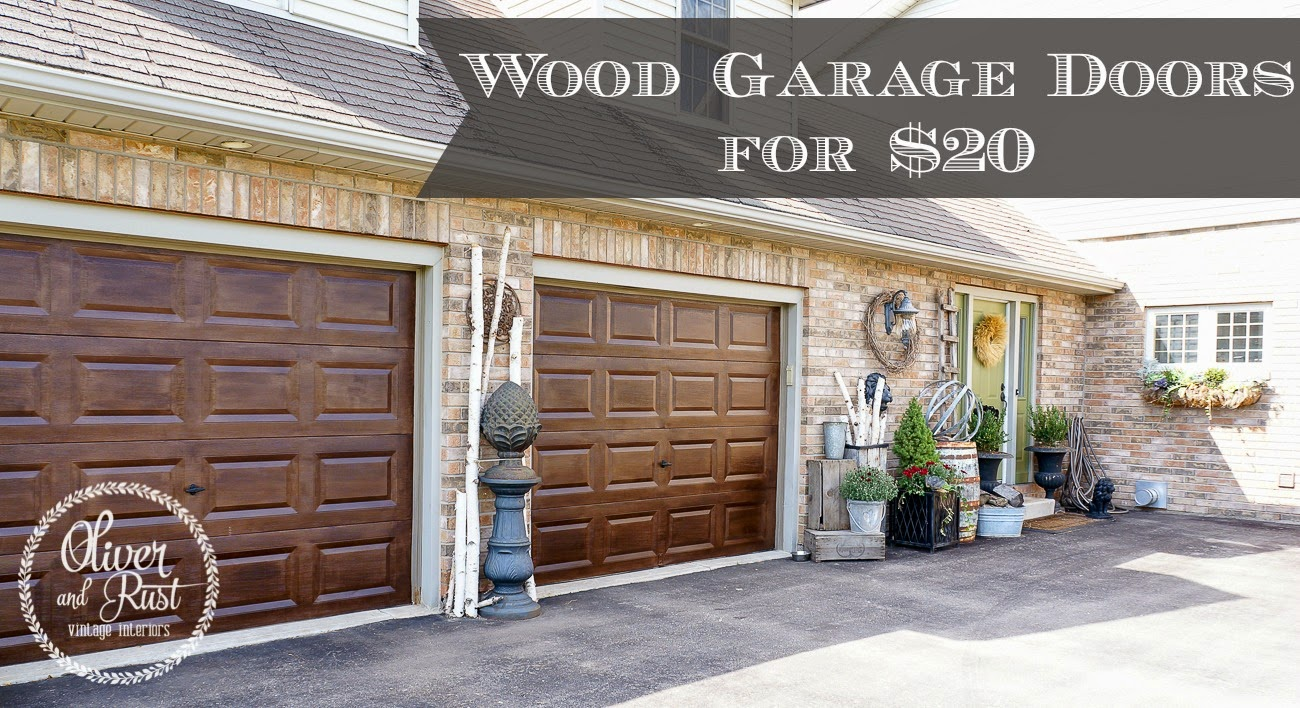 Oliver and Rust: Wood Garage Doors……for cheap