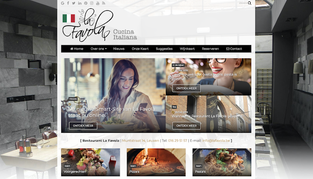 La Favola, restaurant, Smart-SIte, UP-TO-DATE Webdesign