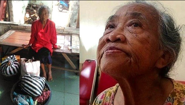 Bak Sinetron, Nenek Ini Diusir Anak & Menantu Hingga Tidur di Emperan, Tetangga Diam-diam Beri Makan