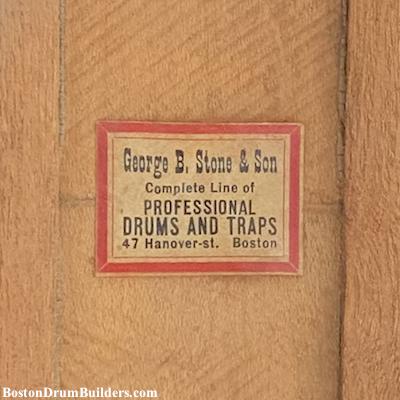 Early 1910s Geo. B. Stone Drum Label