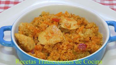 Pechuga de pollo quinoa, Receta fácil, saludable y muy sabrosa