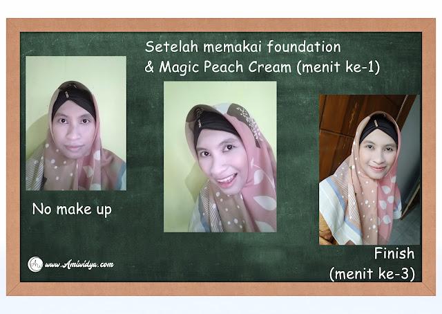 pemakaian magic peach cream