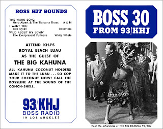 KHJ Boss 30 No. 50 - Lloyd Thaxton with The Big Kahuna