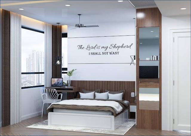 Nội thất phòng ngủ master hiện đại kèm model SU tải về