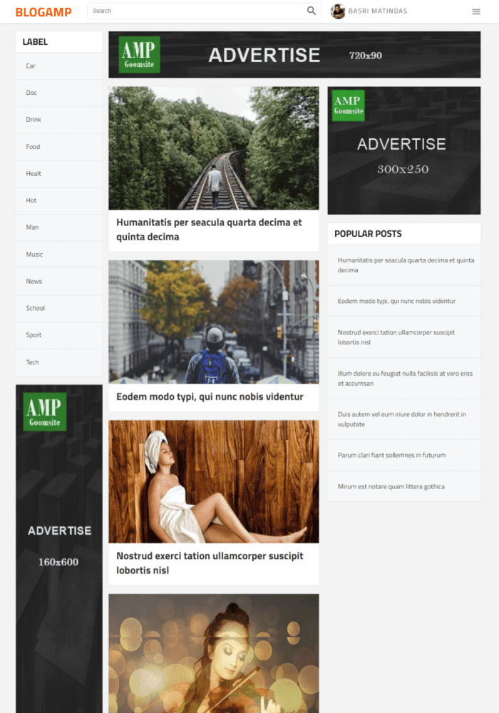 BlogAMP Best Free AMP Blogger Templates