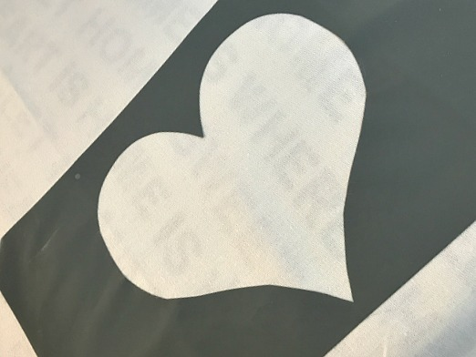 Buffalo Check Valentine Heart Tea Towels. Homeroad.net