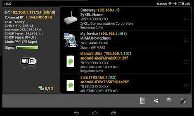 تطبيق مراقبة الشبكات, برنامج عرض الأجهزة المتصلة بجهازك, Network Scanner Premium pro apk