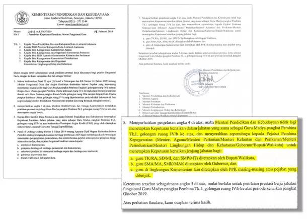 Informasi Penerbitan SK Kenaikan Jabatan Fungsional Guru 2019