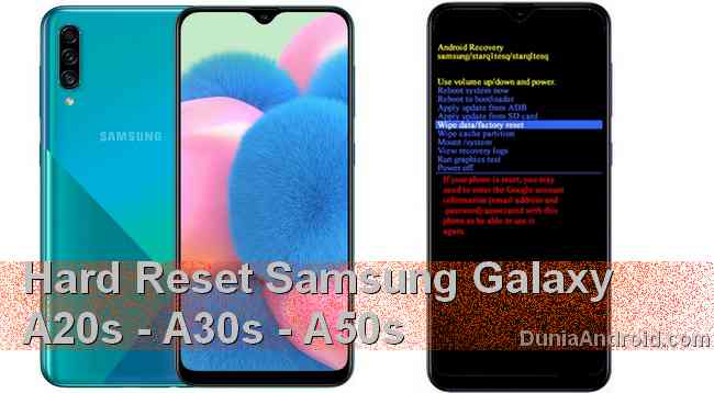 Cara Recovery Mode Reset Samsung A20s A30s A50s