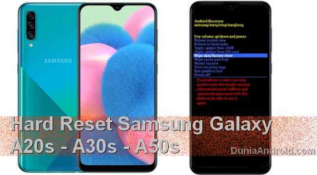 Hard reset Samsung Galaxy A50S A30S A20S