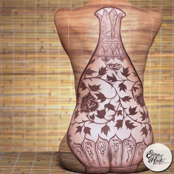 seni melukis tubuh atau body painting atau cat tubuh paling keren kreatif unik lucu dan menakjubkan-29