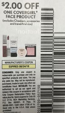 "$2/1 CoverGirl FACE Coupon from ""SMARTSOURCE"" insert week of 7/28(EXP:8/24)."