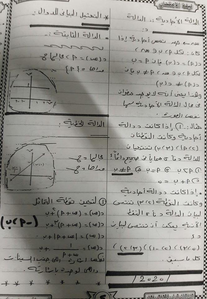 مراجعة رياضيات تانية ثانوي مستر/ روماني سعد حكيم 4