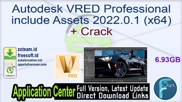 Autodesk VRED Professional include Assets 2022.0.1 (x64) + Crack_ ZcTeam.id