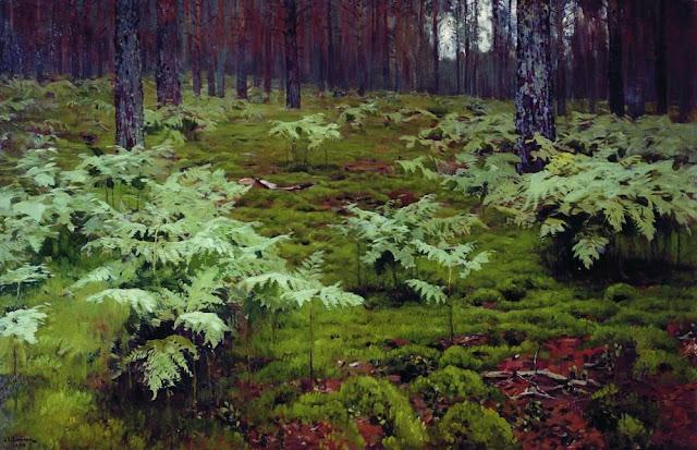 Исаак Ильич Левитан - Папоротники в лесу. 1895