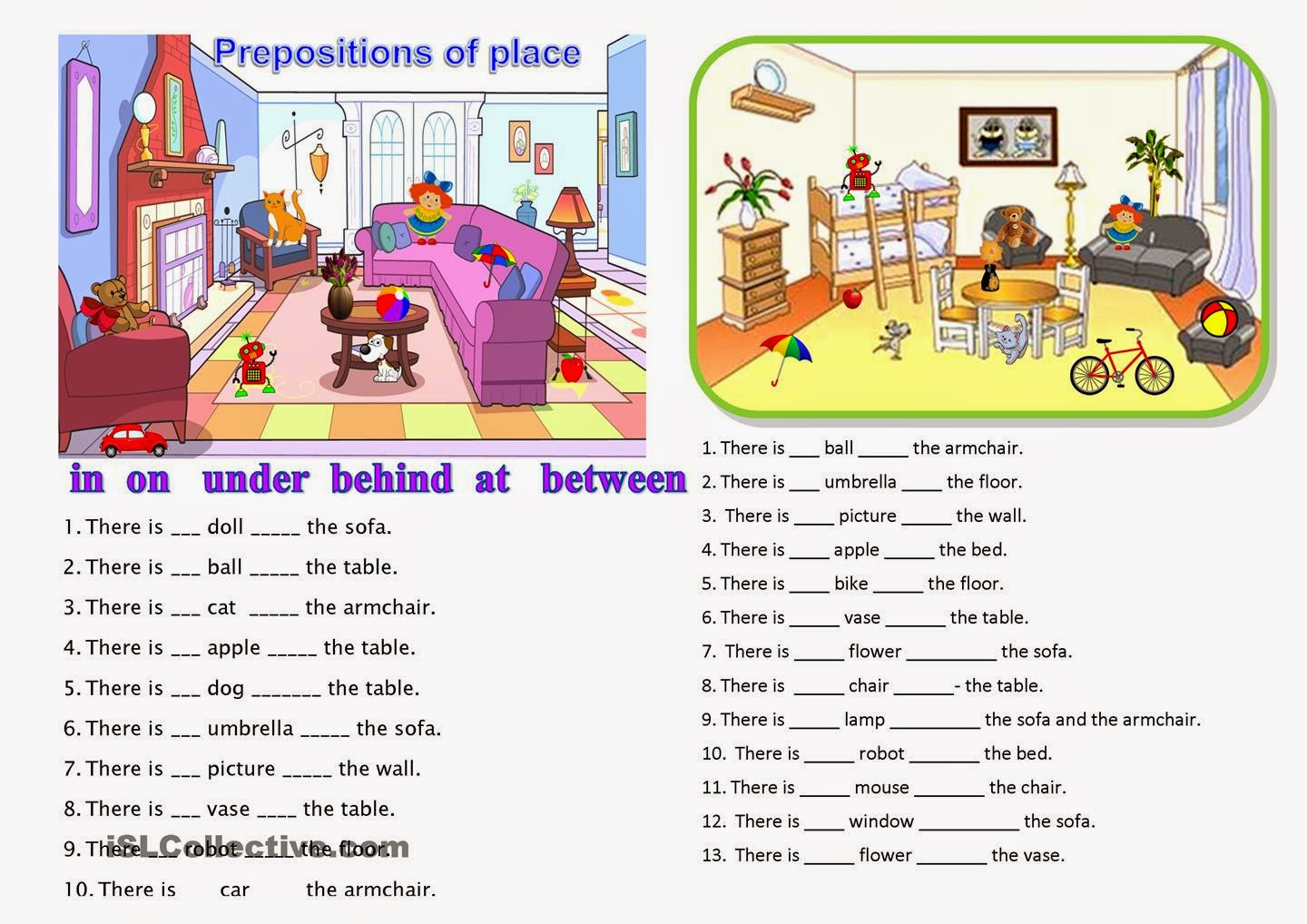 math worksheet : prepositions prepositions of place prepositions of ...