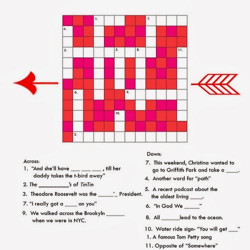 Valentines Crossword Hard Difficult Level