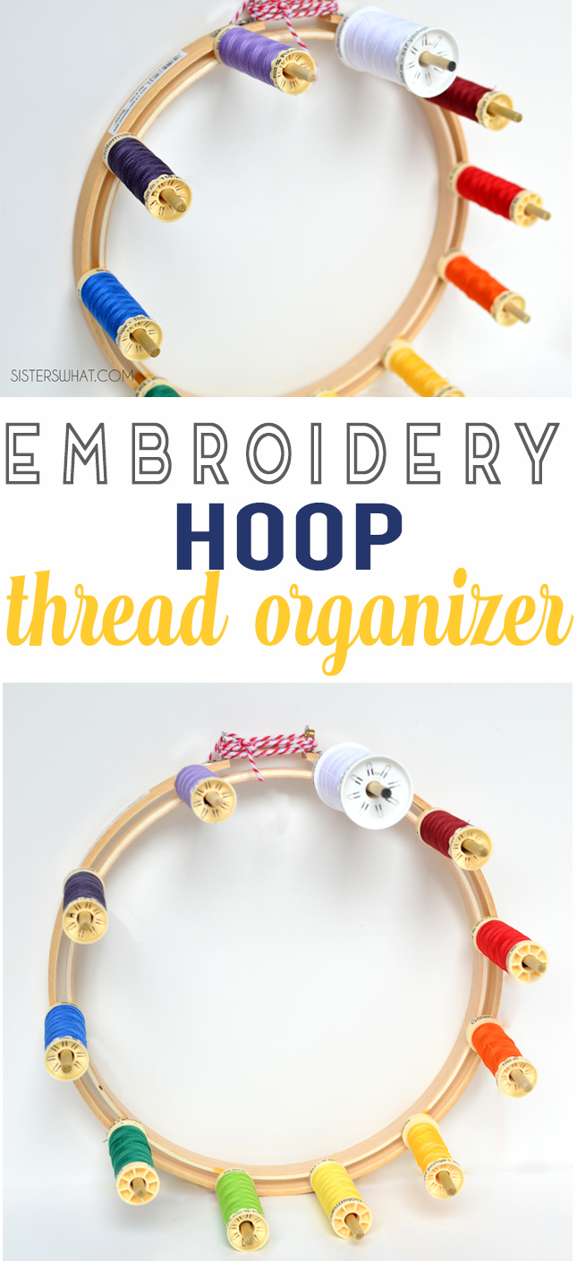 embroidery hoop thread organizer craft room storage