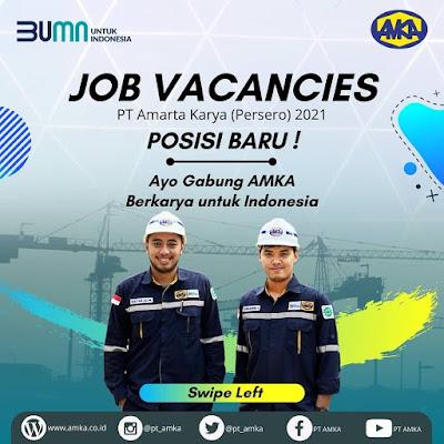 Info Loker Bumn Terbaru Februari 2021 Di Pt Amarta Karya Persero Medanloker Com Lowongan Kerja Medan