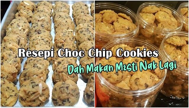 Resepi Choc Chip Cookies Dah Makan Mesti Nak Lagi