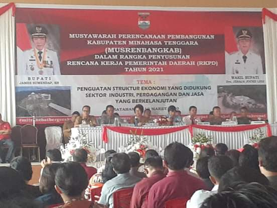 Gelar Musrenbangkab, Mitra Pertama Dari 15 Kabupaten/Kota Se Sulut