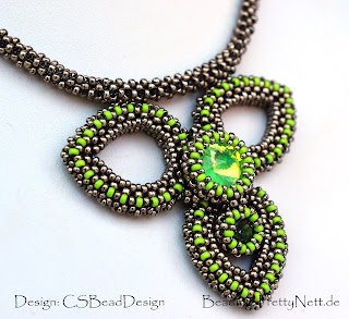 "Beaded neckalce ""SISS"" beaded by PrettyNett.de"