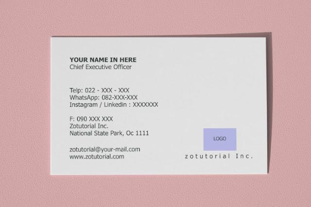 Template Kartu Nama Warna Bisnis Putih