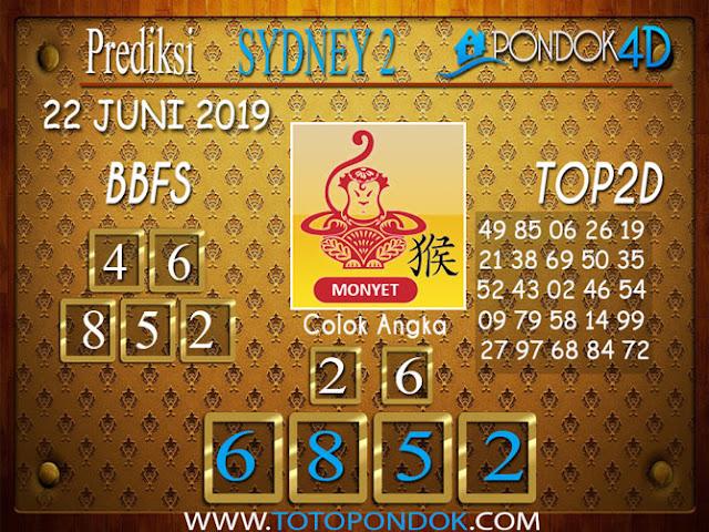 Prediksi Togel SYDNEY 2 PONDOK4D 22 JUNI 2019