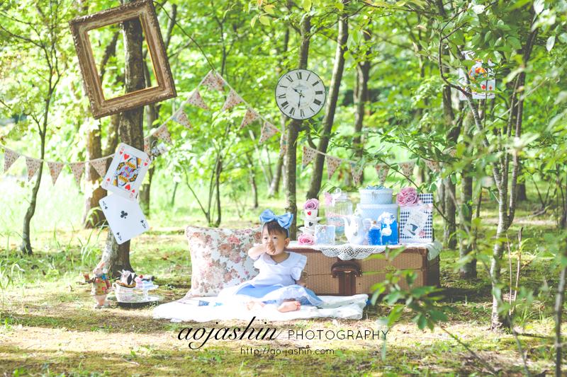 ベビーフォト 千葉 スタジオ 写真 バースデー ロケーション 撮影 不思議の国のアリス