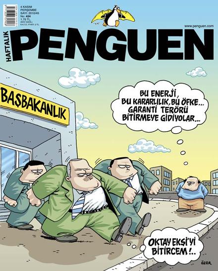 Penguen Dergisi - 4 Kasım 2010 Kapak Karikatürü