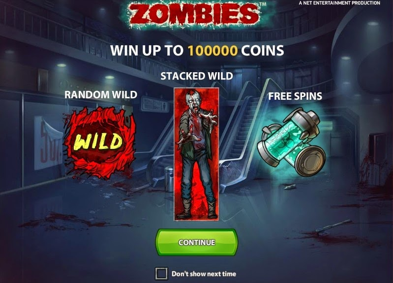 Zombies Video Slot Screen