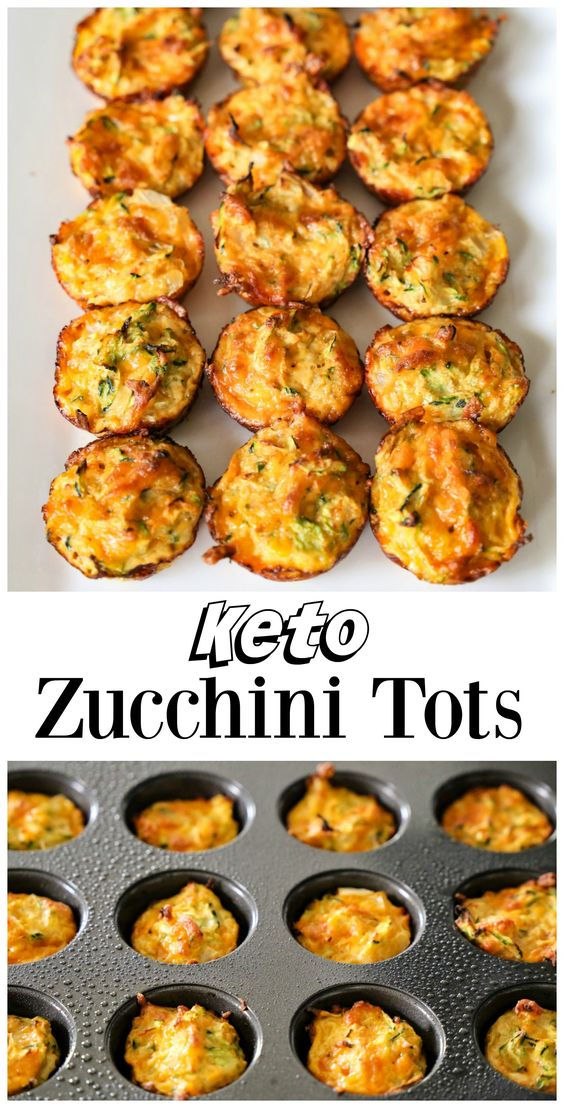 These simple keto Zucchini Tots make a great low-carb snack or side dish. They are a delicious way to eat your veggies.