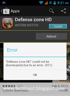 Fix Google Play Store Error 911